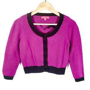 Betsey Johnson Marilyn Monroe Crop Sweater Size L